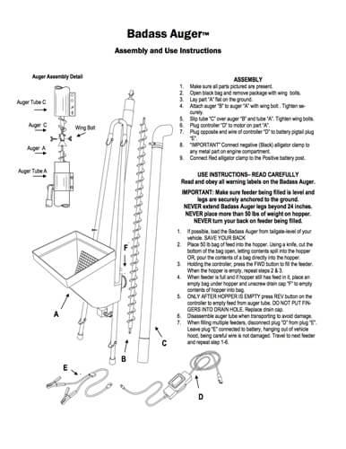 products original auger deer capsule feeder grande deluxe