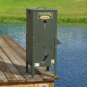 70 lb lake pond directional fish feeder with straight for Texas hunter fish feeder