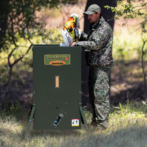 Texas Hunter 300 lb. Hideaway Stand and Fill Directional Deer Feeder