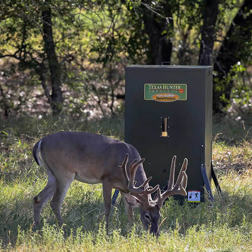 400 Lb Hideaway Stand And Fill Directional Deer Feeder By