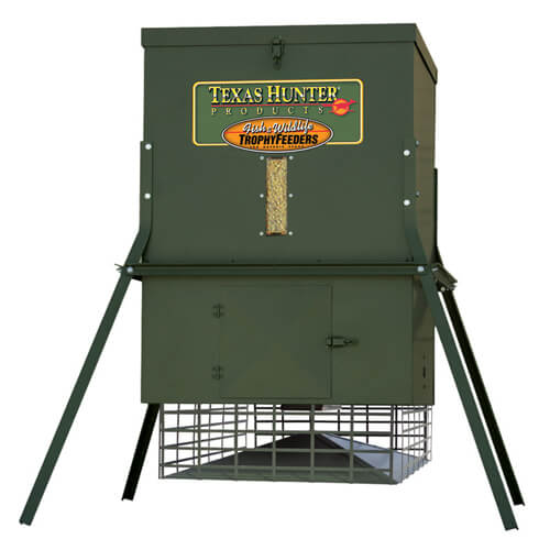 Hunting blinds protein feeders and more from texas hunter for Texas hunter fish feeder