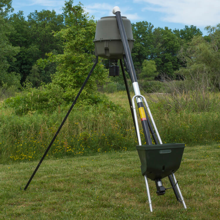 done you an corn overview for empire homemade it diy outdoor deer can version to feeder how grain ideas here make of s feeders tripod a