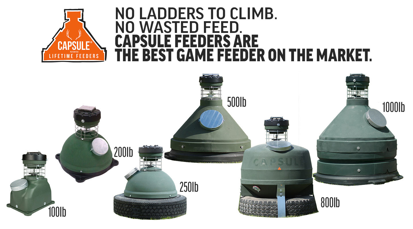Banner Showing the Complete Line of Capsule Feeders: All six models