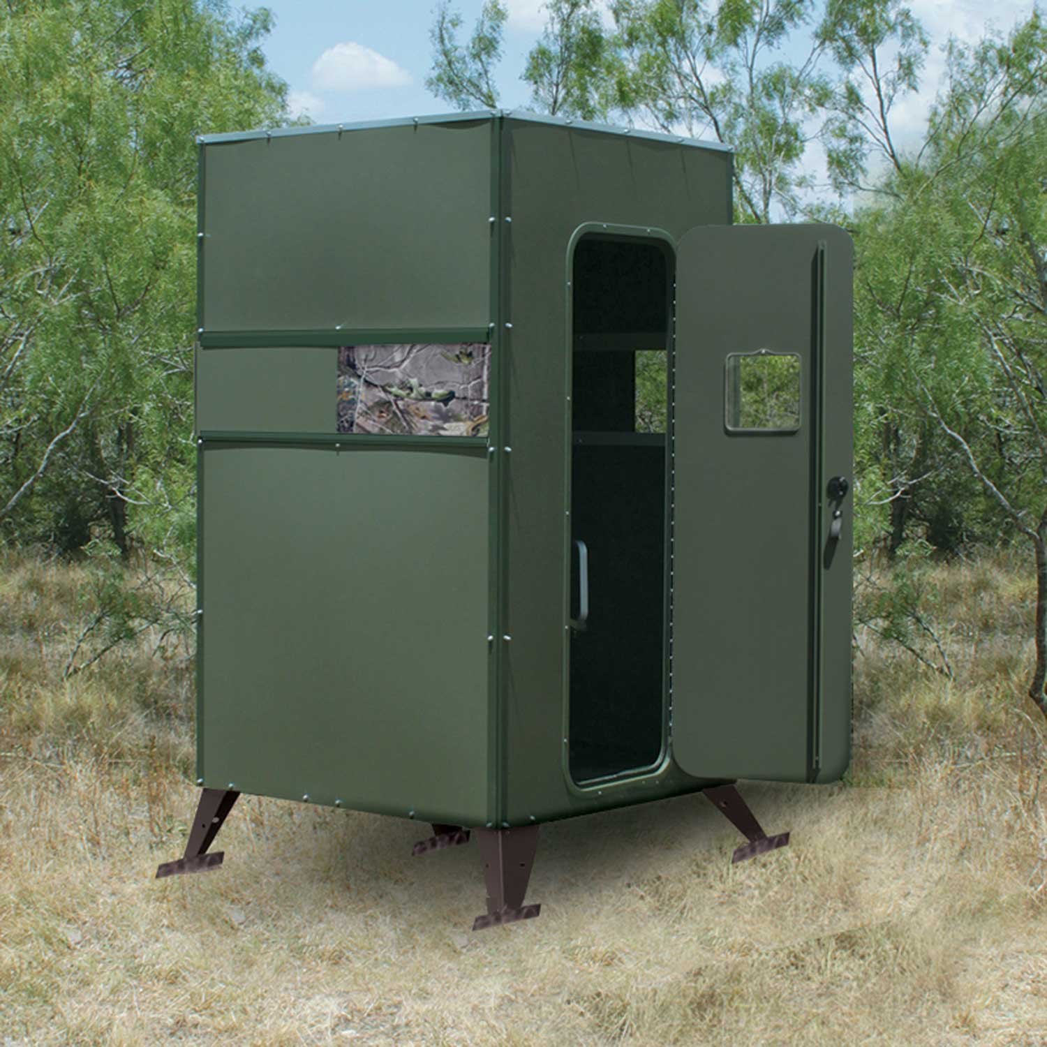 Fdbg Xtreme Ground Deer Blind Single 4 X 4 With Full