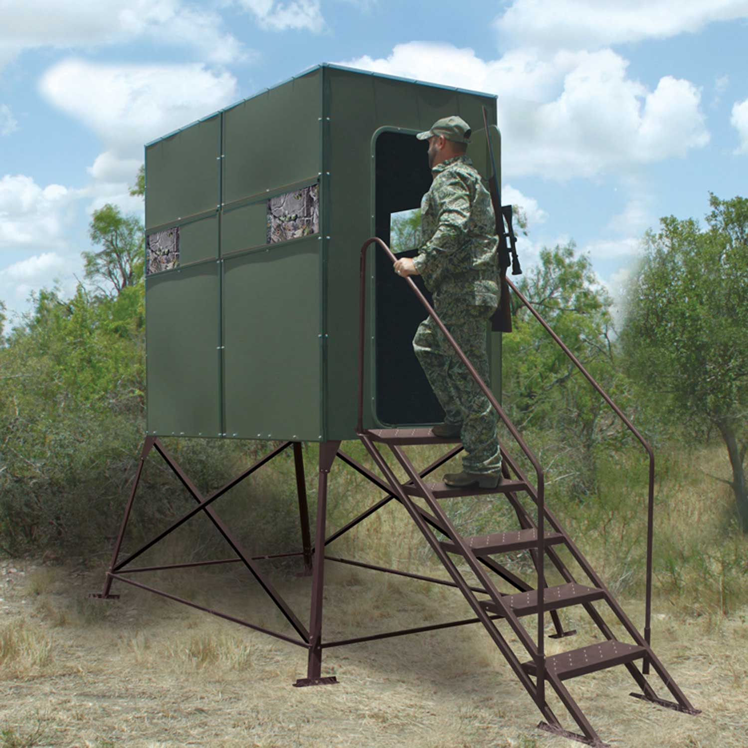 Fddb4 Xtreme Deer Stand Double 4 X 8 With Full Door