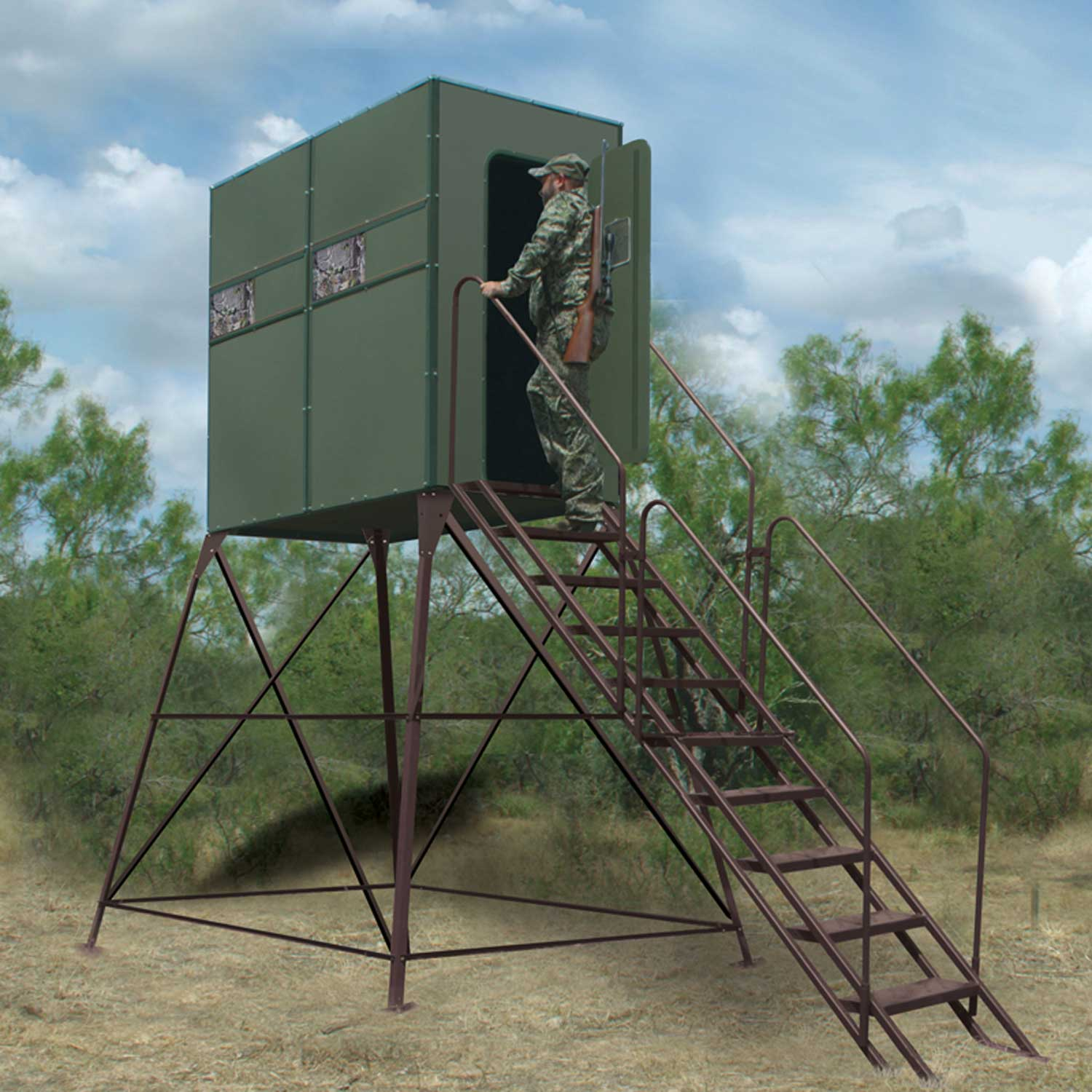 Fddb8 Xtreme Hunting Blind Double 4 X 8 With Full Door