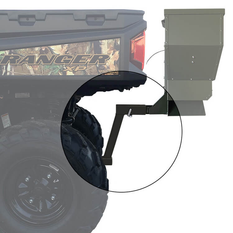 Receiver Hitch Extension For Deer Corn Road Feeders