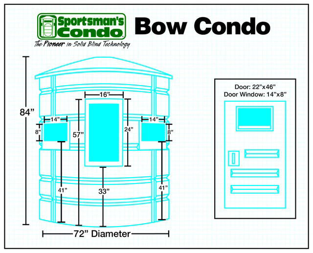Sportsman's Condo Bow Condo 72 in  diameter Deer Stand: Black, Loaded